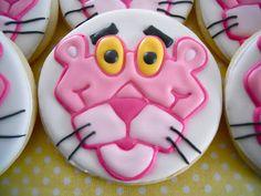 pink panther cookies       On Oh Sugar, Cartoon, round