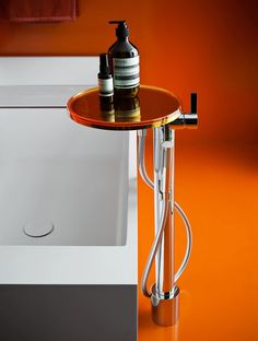 Kartell and Laufen join forces on a new type of modern bathroom fixtures called Kartell by Laufen that combines traditional ceramic with plastic. Laufen Bathroom, Bathroom Sets, Modern Bathroom, Washroom, Beautiful Bathrooms, Bathroom Hardware, Bathroom Fixtures, Orange Bathrooms, Modern Bathrooms