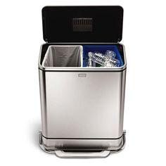 Simplehuman Afvalemmer Rectangular 38 Liter Mat Rvs.11 Best Bins Images Recycling Bins Recycling Station Chang E 3