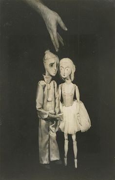André Kertész - FROM THE BEAUTIFUL DOLL MARIONETTE SHOW, PARIS, 1929.