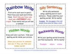 FREE Spell Cards to Print with different tasks to reinforce spelling words!    My children love these FREE spell cards!  #homeschool, #printables #education