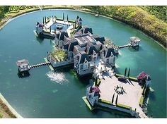 Castle + private lake = one of a kind luxury #castles #architecture #chateau