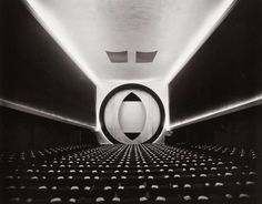 German born US photographer Ruth Bernhard, Frederick Kiesler, 8th Street Theater, New York, c. 1945