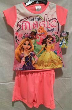Baby & Toddler Clothing Hard-Working New Girls Disney 2 Piece Princess Sleep Set Size 2t Profit Small
