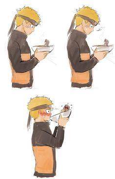 Naruto found ramen with Hinata flavour Naruto Uzumaki, Manga Naruto, Naruto Shippuden Characters, Naruto Sasuke Sakura, Naruto Comic, Naruto Cute, Otaku Anime, Manga Anime, Naruhina Doujinshi