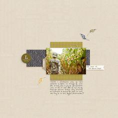 Layout by Peppermint   Gramercy Road by One Little Bird (for Gossamer Blue)