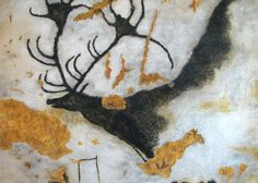On September the cave paintings in Lascaux, France, were discovered. Lascaux is the setting of a complex of caves near Montignac, France Lascaux Cave Paintings, Irish Elk, Art Pariétal, Paleolithic Art, Paleolithic Period, Art Rupestre, Cave Drawings, Art Ancien, Art Antique
