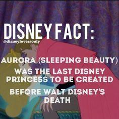 Disney Facts: Sleeping Beauty last Disney princess created before Walt Disney died. Font Disney, Disney Pixar, Disney Nerd, Disney Memes, Disney Quotes, Disney And Dreamworks, Disney Trivia, Disney Dream, Disney Love