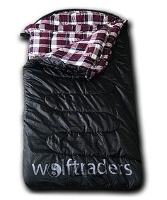 newest 31f6d a825b Wolftraders Black   Purple +0 Degree One-Person Sleeping Bag   zulily  Sleeping Bag