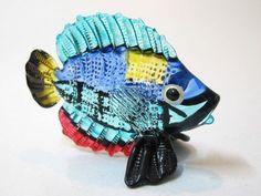 Aquarium Handcrafted MINIATURE HAND BLOWN GLASS Fish FIGURINE Collection # 127