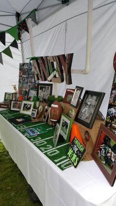 Graduation Football Display (graduation open houses photo display)