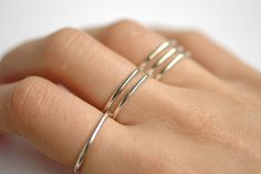 connected three finger ring