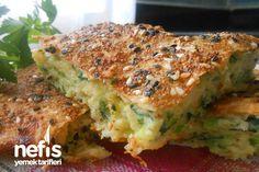 Fırında Kolay Sebzeli Mücver Böreği