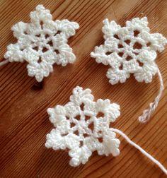 Flocons de neige en crochet