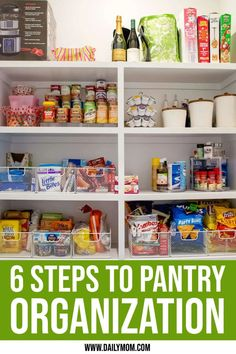 6 Steps To Pantry Organization For A More Relaxed Holiday Season  Organizing your kitchen and pantry now will help you tackle whatever the season may throw your way. #pantry #organization #declutter #containerstore