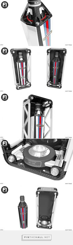 Williams Martini Racing Limited Edition Bottle designed by F1 Design (USA) - http://www.packagingoftheworld.com/2016/03/williams-martini-racing-limited-edition.html