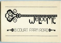 Welcome to my home, Cross Stitch PDF by Ruth Caig, StitchKits