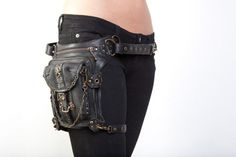 Forget the fanny pack, I'd use this instead very a la Amidala gun holster-ish, but this is know as steam punk