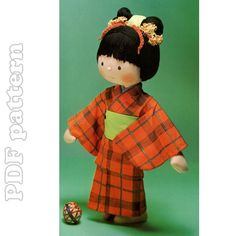 Clothespin Doll Tutorial | Kimono Rag Doll Plush and Tutorial Sewing Pattern PDF | CraftyLine e ...