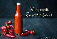 Homemade Sriracha Hot Sauce Recipe (sugar-free). We love Sriracha around here!. GAPS Friendly. Not AIP friendly.