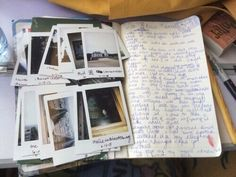 polaroid, diary, and memories image