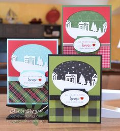 Choose your favorite designer paper for this one.  I made the same card with designer paper from three of our holiday collections and our Hearts Come Home bundle - which is fabulous!  I know that intricate dies may have caused you extra work in the past.  However, the newer dies, in combination with the improved Big Shot platform, are delightful to work with! Leave me a comment if you have a favorite among these three... 1.  Quilted Christmas 2.  Christ...