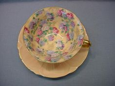 "Shelley Oleander ""Pink Summer Glory"" Tea Cup & Saucer"