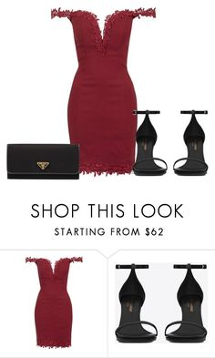 """Untitled #3453"" by metemelobiebas ❤ liked on Polyvore featuring Topshop, Yves Saint Laurent and Prada"