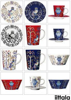 Iittala - Taika collection / Pattern is Finnish. Worth every penny. Before they're all gone, you must find at least one mug. it's just so subtle and amazing -- the artist does original fairy tale illustration, Scandinavian Living, Scandinavian Design, Original Fairy Tales, Holiday Dinnerware, 50 Off Sale, China Patterns, Nordic Design, Vintage Pottery, Porcelain Ceramics