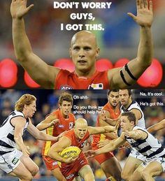 Geelong going to the game this weekend. Football Memes, Sports Memes, Richmond Afl, Australian Football League, Australia Funny, Workout Meal Plan, Football Pictures, School Memes, Funny Games
