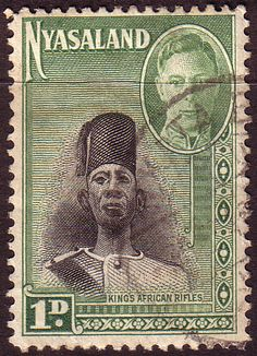 Nyasaland 1945 SG 145 Kings African Rifles Fine Used SG 145 Scott 69 Other African Stamps Here