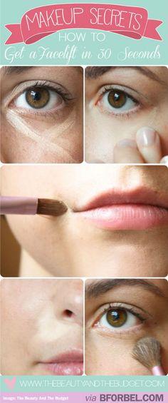 Make Up Trick: Get A Facelift In 30 Seconds With Strategic Concealer