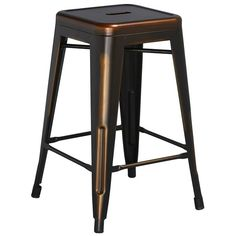 A stage and a seat all in one? This beautiful bar stool might just be too good to be true! Crafted of steel and plastic, it features four slanted legs and a square top with a pierced center detail. Though it would always be alluring pulled up to the kitchen island, it also makes an eye-catching end table. Add on a lush potted succulent and a sleek metal lamp for a stunning sofa-side accent, lovely along with a knotted jute rug laying out on the floor below and a few chic shag throw blankets…