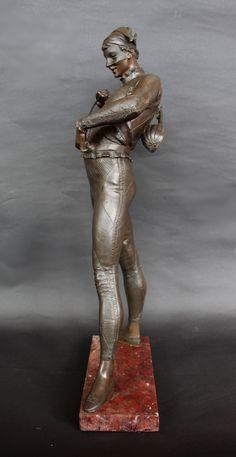 Large 19th Century Bronze Harlequin Circa 1870 | 147198 | Sellingantiques.co.uk