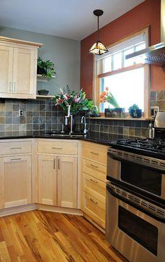 White And Cream Modern Kitchen Design With A Corner Sink   Tiny Kitchens    Pinterest   Corner Sink And Modern Kitchen Designs