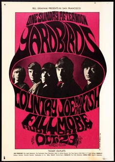 Concert at the Fillmore Auditorium (Yardbirds, Conutry Joe and The FIsh)