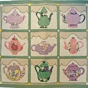Teapot Collection Quilt Pattern PDF - via @Craftsy