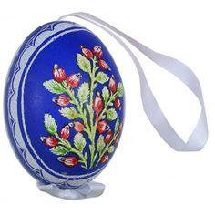 measure pysanky | Rose Hips on Dark Blue Eastern European Egg Ornament ~ Handmade in ...