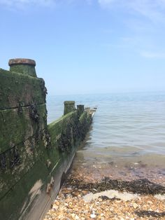 Looking out to sea from sunny Whitstable. Bliss