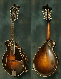 Not a guitar but this 1924 Gibson Lloyd Loar mandolin is a work of art. Guitar Amp, Cool Guitar, Acoustic Guitar, Rick E, Bluegrass Music, Beautiful Guitars, Vintage Guitars, Ukulele, Playing Guitar
