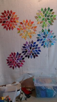 Rainbow Blossom Block from Mad Quilter