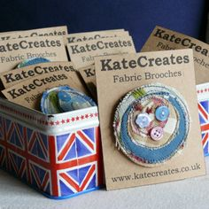 Funky Fabric Brooches from KateCreates Online