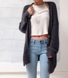 glamorous-diamond:   Cami Top   Cardigan   Denim ... A Fashion Tumblr full of Street Wear, Models, Trends & the lates