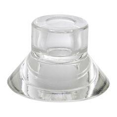 IKEA - NEGLINGE, Svietnik, NEGLINGE možete použiť ako svietnik alebo ako držiak na kahance, zavísi to od toho, z ktorej strany ho otočíte.Číre sklo odráža a stupňuje teplú žiaru plameňa sviečky.Svietniky NEGLINGE sa dajú na seba naskladať, takže budete mať priestor na uskladnenie, keď ich nebudete používať.