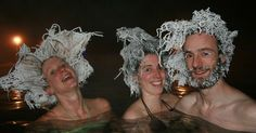 The Takhini Hot Pools in Canada host an annual hair freezing competition.
