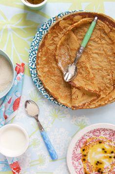 millet and chestnut crêpes jump way down to the actual recipe. cup millet flour cup chestnut flour etc Breakfast Crepes, Crepes And Waffles, Savory Crepes, What's For Breakfast, Breakfast Dishes, Buckwheat Crepes, Millet Recipes, Foods To Eat, Recipe Of The Day