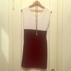 American Apparel B&W Cotton Dress Only worn once! Hugs curves and is very comfortable. American Apparel Dresses Mini