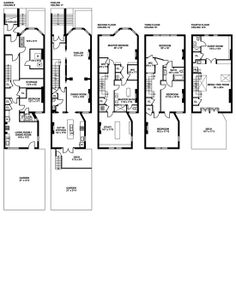 Historic brownstone floor plans brownstone pinterest townhouse montgomery place brooklyn malvernweather Images