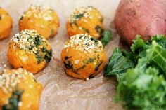 Sweet Potato and Kale Balls are packed with nutrients and full of flavor. Eat them as a main dish or a snack. You won't be able to have just one!