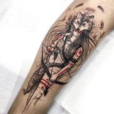 Home - tattoo spirit- Tattoo Felipe # Body art Model Tattoos, Body Art Tattoos, Small Tattoos, Home Tattoo, Girls With Sleeve Tattoos, Tattoo Girls, Wolf Tattoos, Tatoos, Tattoo Sketches
